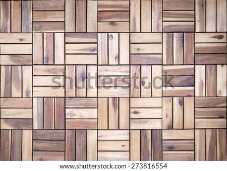 Wooden floor from locust wood - stock photo
