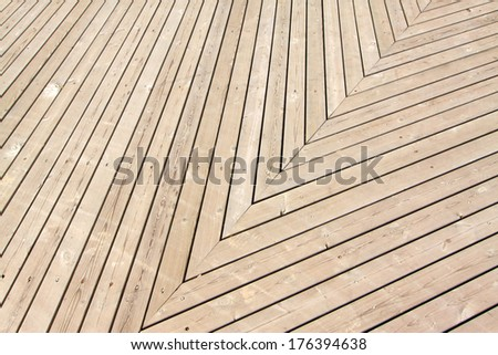 Wooden floor in a park, in Luannan, china