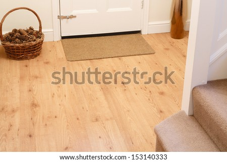 Wooden floor in entrance hall