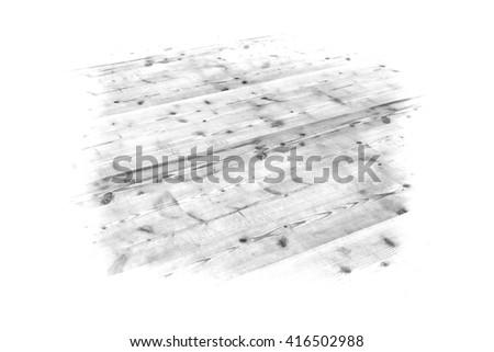 wooden floor, monochrome, isolated - illustration - stock photo