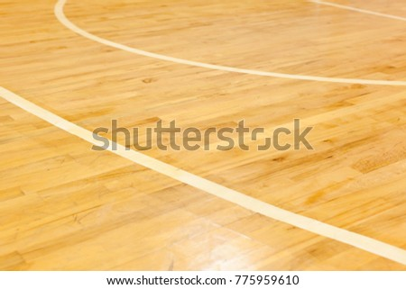 Wooden Floor Basketball Court Stock Photo Edit Now Shutterstock