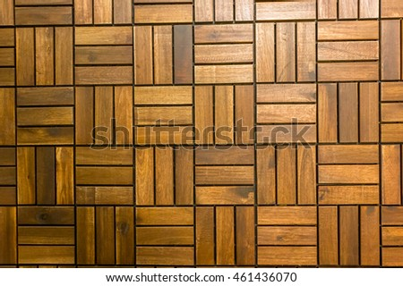 Wooden floors and wooden walls . Texture Background .