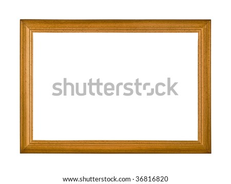 wooden frame and an isolated white background