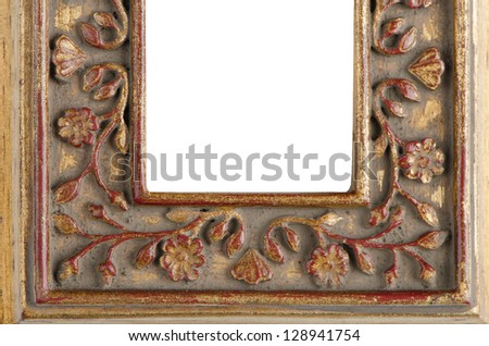Wooden frame detail for paintings or photographs. - stock photo