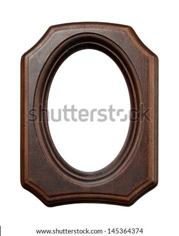 Wooden frame for painting isolated on white - stock photo