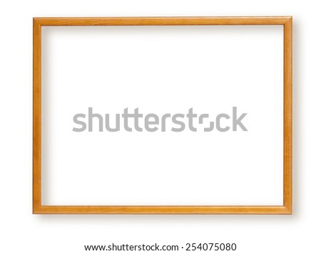 Wooden frame for paintings or photographs. isolated with clipping path - stock photo