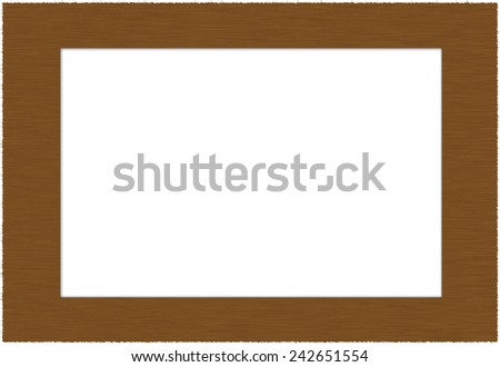 Wooden frame for texture and background isolated on white background