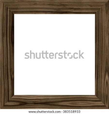 wooden frame isolated on white background. wood line image