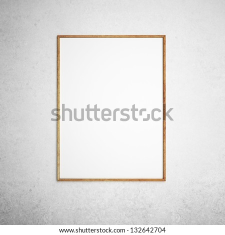 wooden frame on a white background - stock photo
