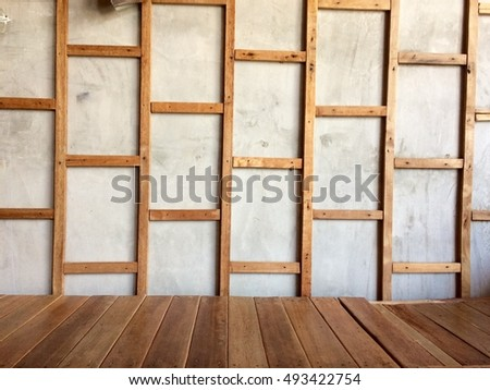 wooden frame on wall and wooden floor - Wood Frame Wall