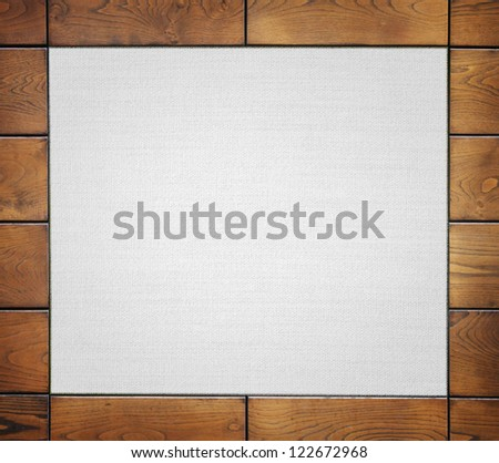 wooden frame with fabric - stock photo