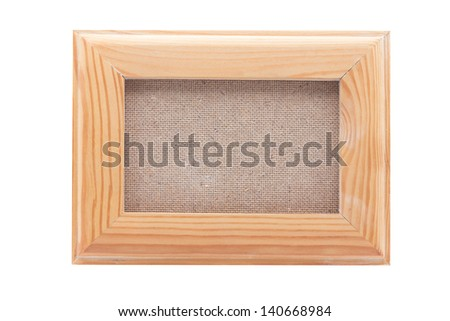 Wooden frames on wood background with clipping path