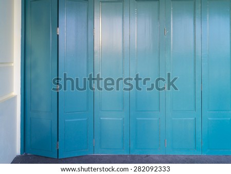 Wooden Front Door To The House
