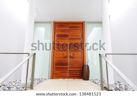 wooden gate, modern style