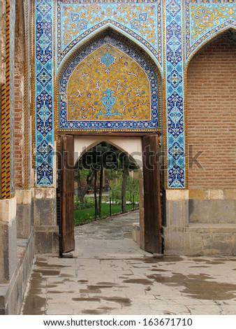 Wooden gate of historical Sheikh Safi-ad-din Ardabili's tomb