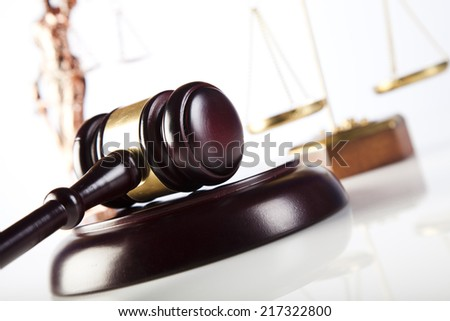 Wooden gavel - stock photo