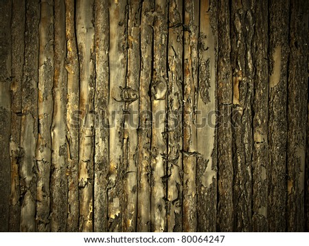 Wooden gold wall background or texture - stock photo