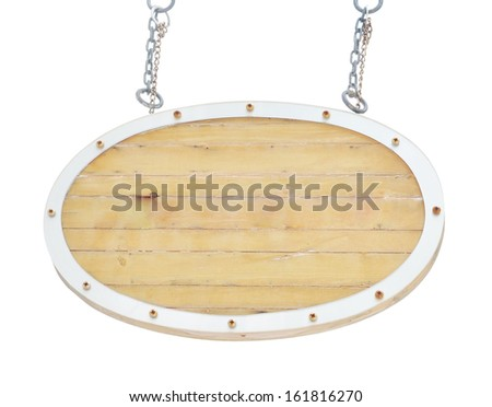 wooden hanging board  - stock photo