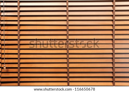 Wooden horizontal jalousie