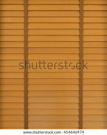 Wooden horizontal jalousie background - stock photo