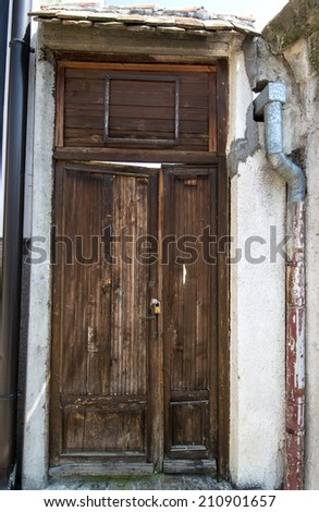 wooden house door