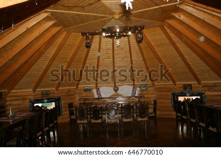 wooden house inside