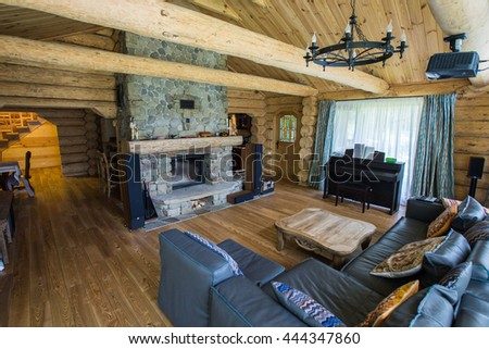 wooden house interior
