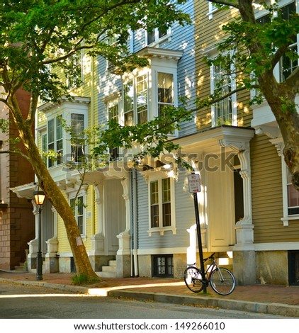 Wooden Houses in Providence, Rhode Island, USA - stock photo