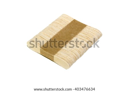 Wooden ice cream stick isolated on white background