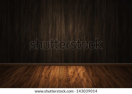 wooden interior empty for design - stock photo