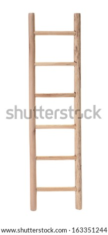 Wooden ladder - stock photo