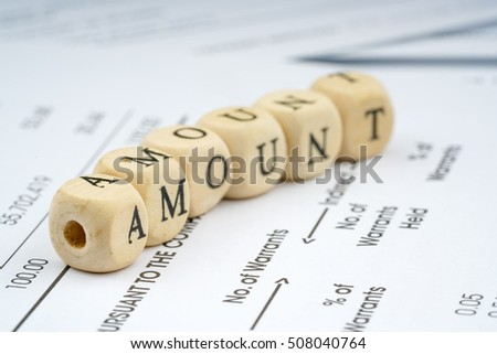 Wooden letter cube. Business concept.