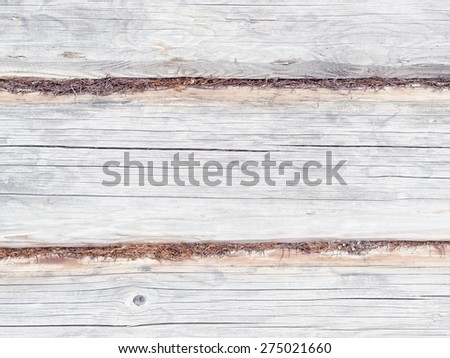 Wooden logs wall background - stock photo