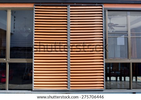 blinds photo image building safe to outdoor wooden on louver use stock