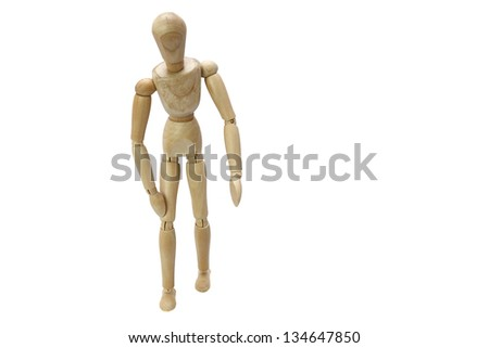 Wooden Manikin Doll Poised In Different positions