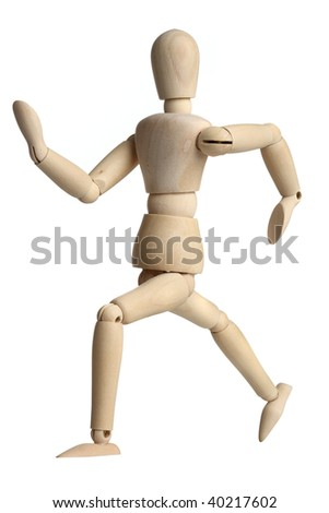 Wooden Mannequin - stock photo