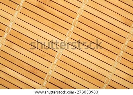 Wooden mat close-up - texture - stock photo