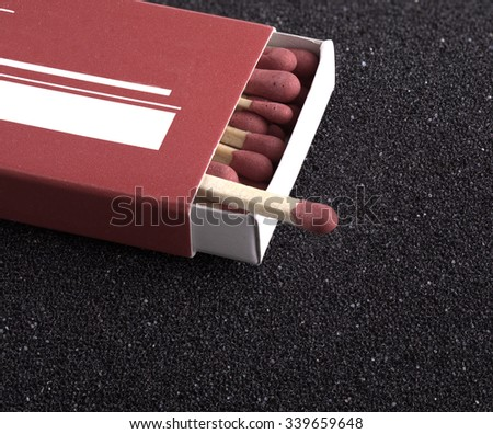 wooden matches for firing - stock photo