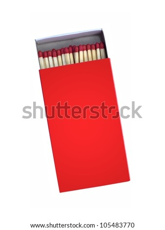 Wooden matches isolated against a white background - stock photo