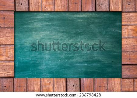 wooden menu board. - stock photo