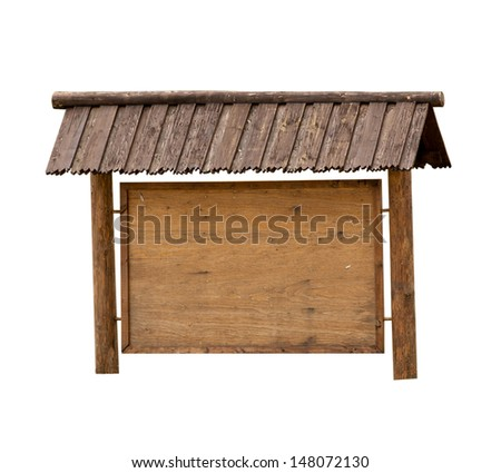 Wooden message board - empty space for your text. - stock photo