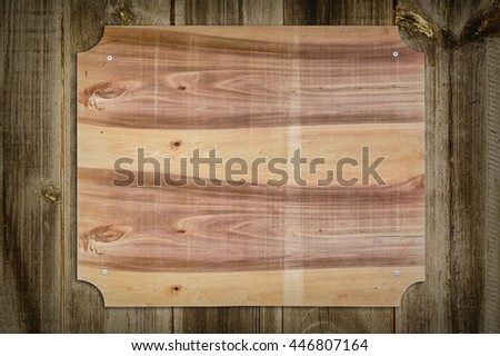 Wooden Nameboard on the Wooden Fence - stock photo