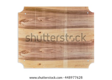 Wooden Nameboard over the White Background - stock photo