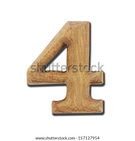 Wooden number - stock photo