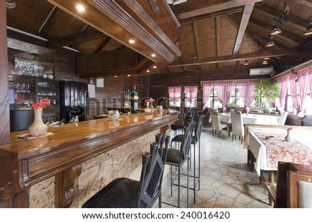 wooden old interior ethnic restaurants