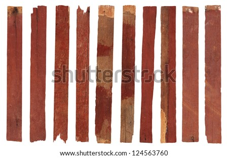 wooden on white background with clipping path - stock photo