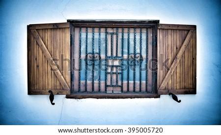 Wooden open Window - stock photo
