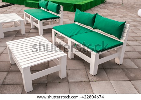 wooden outdoor furniture from pallets