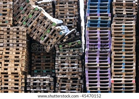 Wooden Palettes - stock photo