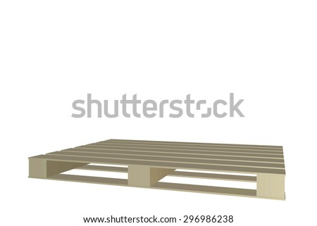 wooden pallet - stock photo